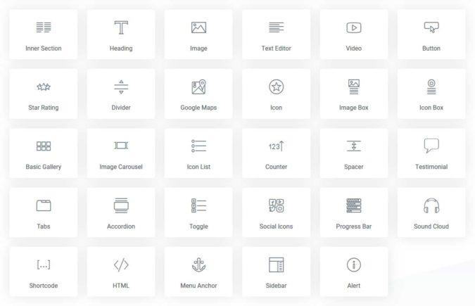 Widgets / Elemente - kostenlose Version
