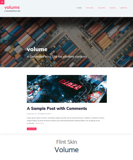 Volume - Blog Template