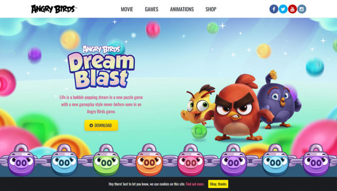 Angry Birds Webseite