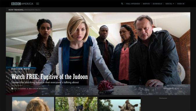 BBC America Webseite