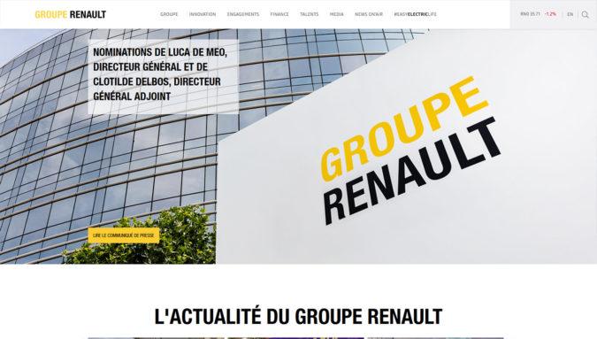 Renault Group Webseite mit WordPress