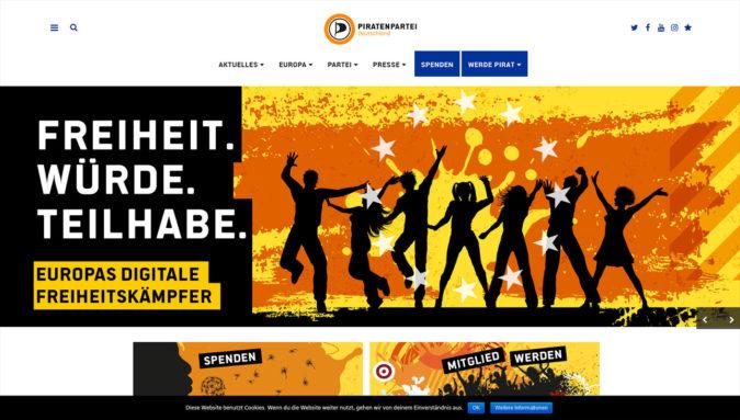 Piratenpartei Deutschland Webseite