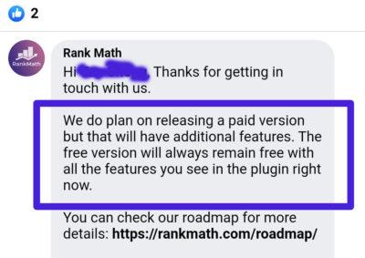 Statement: Kostenlose Features bleiben kostenlos