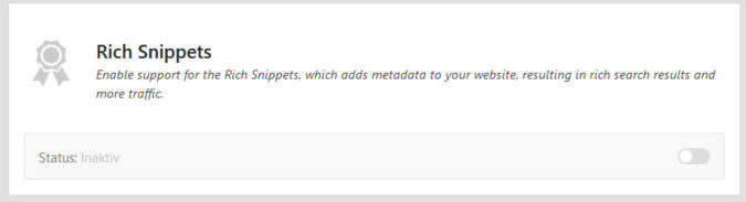 Rich Snippets Modul