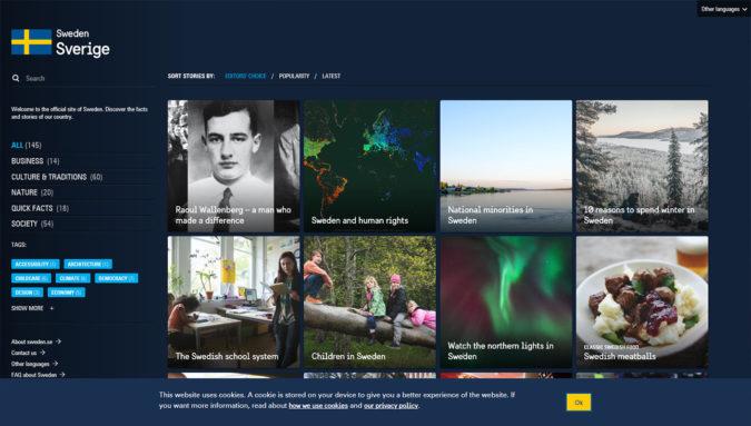 Offizielle Webseite von Schweden