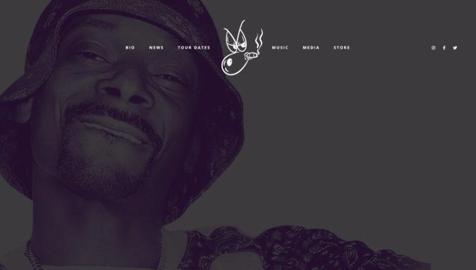 Snoop Dog Webseite