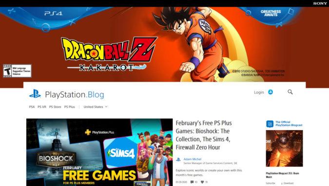 Sony Playstation Blog