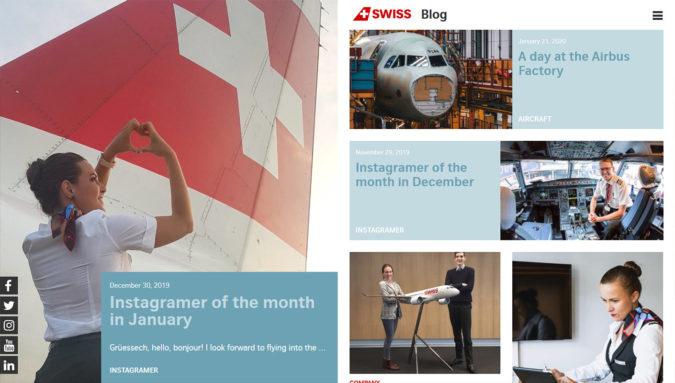 SWISS Blog (Fluggesellschaft)