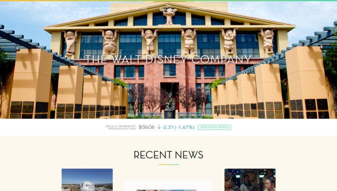 Walt Disney Webseite