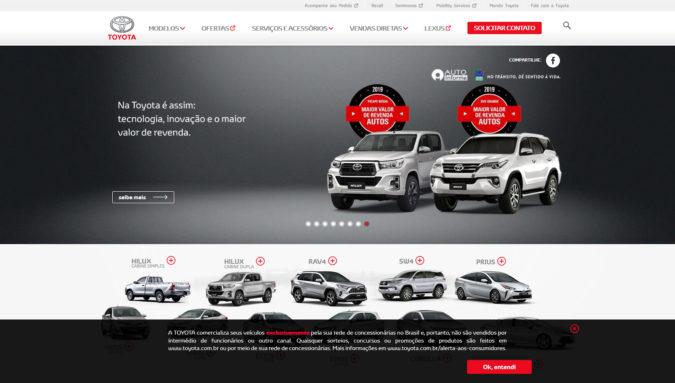 Toyota Brasilien Webseite