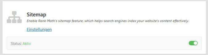 Sitemap Modul zum automatischen generieren einer XML Sitemap