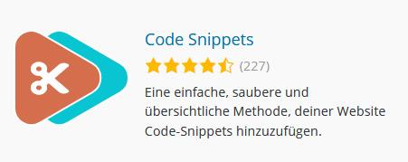 Code Snippets - WordPress Plugin