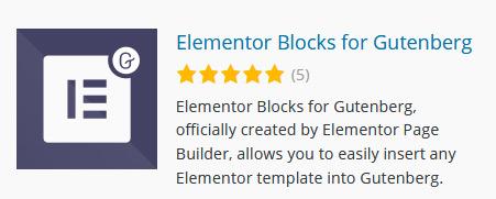 Elementor Blöcke in den Gutenberg Editor einfügen