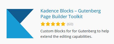Kadence - WordPress Plugin um Gutenberg Editor zu erweitern