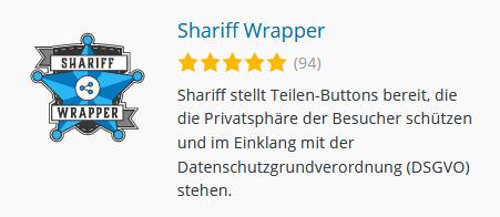 Shariff Wrapper - DSGVO konforme Teilen-Buttons für WordPress