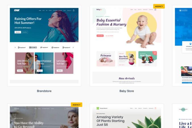 WP Astra Starter Sites - kostenlose Templates für Elementor