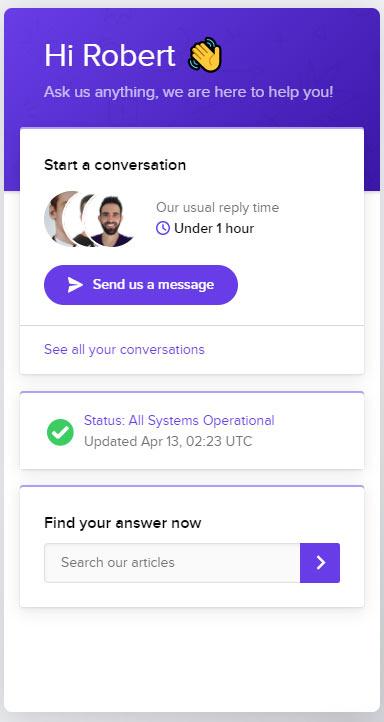 Hostinger Support per Live-Chat